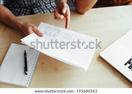 Close-up of a website layout - stock photo