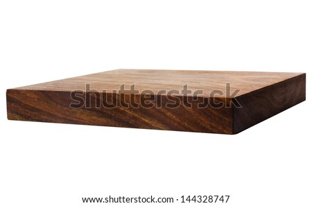 Close-up of a wooden shelf - stock photo