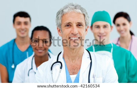 Close up of a young Medical team - stock photo