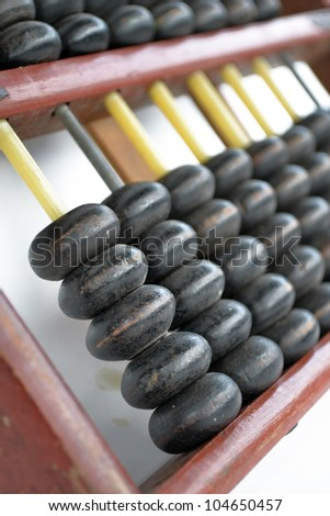 Close-Up Of Abacus - stock photo