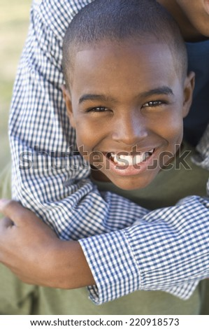 Close up of African boy smiling - stock photo