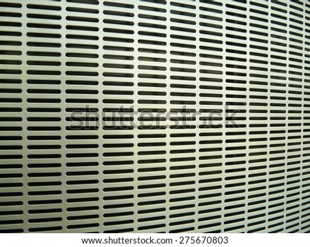 Close up of air conditioner grill - stock photo
