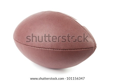 Close-up of american football, white background - stock photo