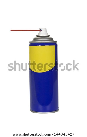 Close-up of an aerosol can - stock photo