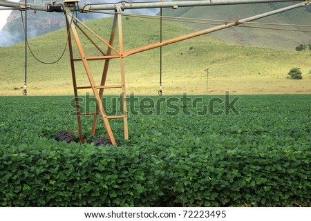 Close-up of an automatic irrigation system on an agricultural farm in Mpumalanga, South Africa - stock photo