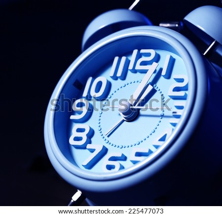 Close up of an clock face - stock photo