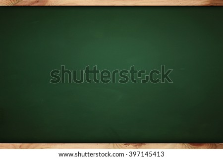 close up of an empty chalk board - stock photo