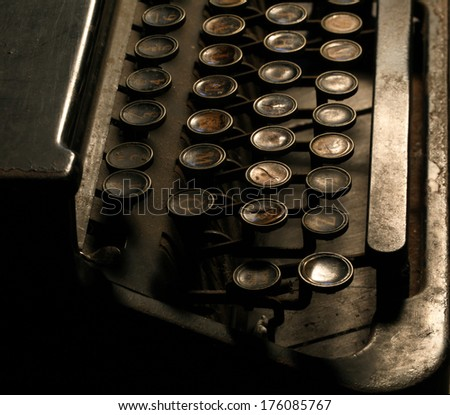 Close up of an Old Typewriter - stock photo