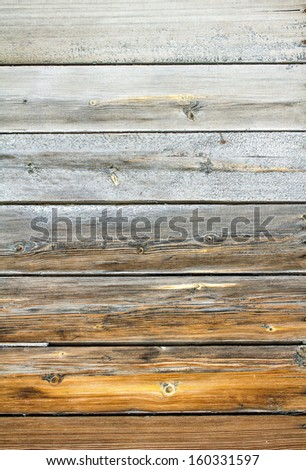 Close up of an old wooden fence panels - stock photo