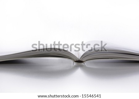 Close up of an open book - stock photo