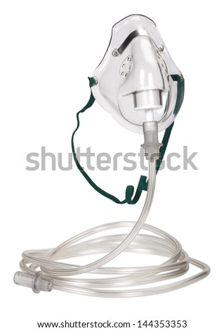 Close-up of an oxygen mask - stock photo