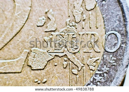 Close-up of an uncirculated euro cents coin - stock photo