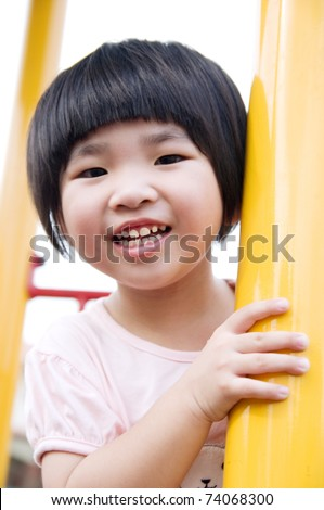 close up of asian girl - stock photo