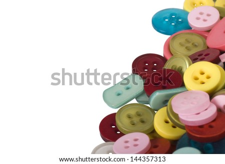 Close-up of assorted buttons - stock photo