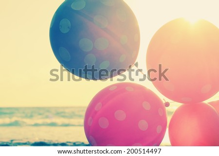 close up of balloons - stock photo