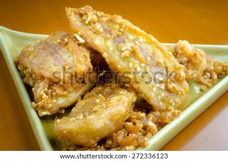 Close up of Banana fried background /Banana fried / Close up of Banana fried ( Banana, fried, thai) - stock photo
