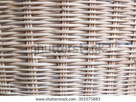 close up of basket wicker, rattan background - stock photo
