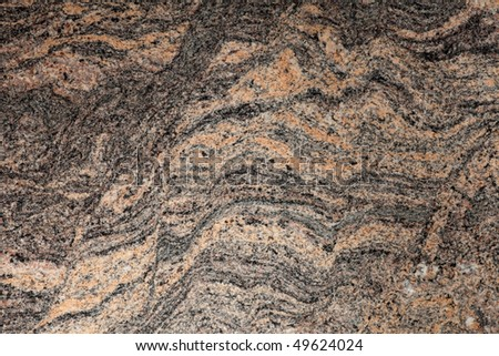 Close-up of beautiful natural design of granite - stock photo