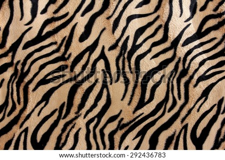 close up of beautiful tiger fur - colorful texture with orange, beige, and black - stock photo