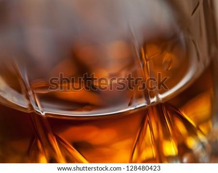 close up of beverage whiskey background - stock photo