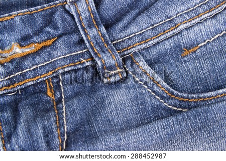 close up of blue jeans - stock photo