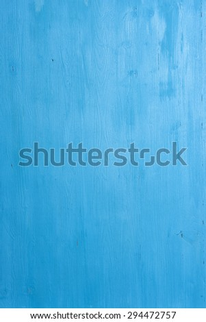 close up of Blue painted wood background - stock photo