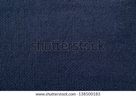 Close up of blue woolen fabric. - stock photo