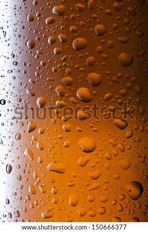 Close up of bottle of cold beer - stock photo