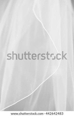 Close up of bridal veil - stock photo