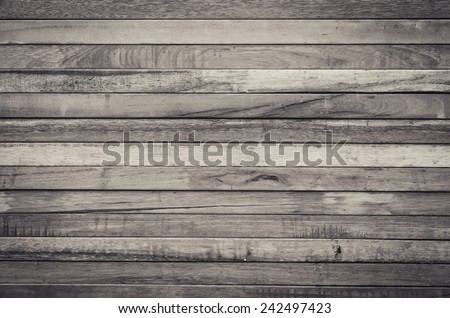 Close up of brown wooden fence panels - stock photo