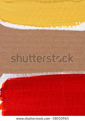 Close up of cardboard with brush lines - stock photo