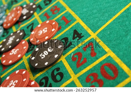 Close up of casino roulette table. background - stock photo