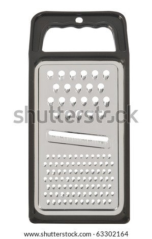 close up of cheese grater isolated on white background - stock photo