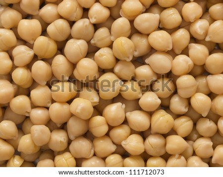 close up of chickpeas food background - stock photo