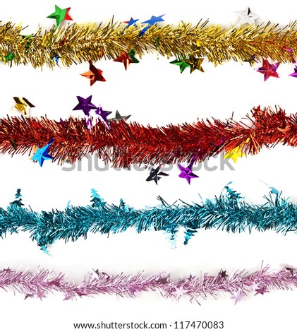 Close up of Christmas decoration on white background. - stock photo