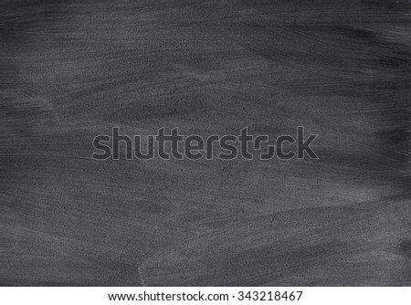 Close up of clean school blackboard. Chalk rubbed out on black horizontal chalkboard. Blackboard or chalkboard texture. Vector illustration. Grunge background. - stock photo
