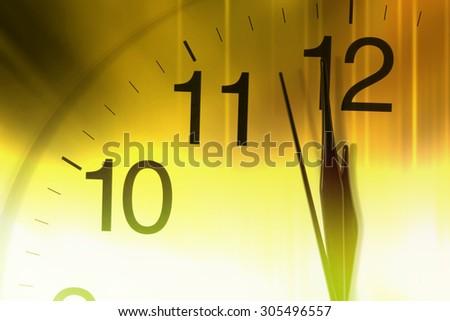 Close-up of Clock Face - stock photo