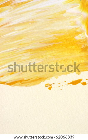 Close up of colorful ink brush lines - stock photo