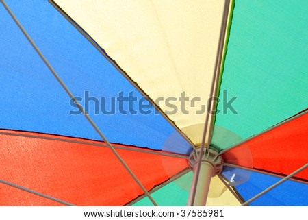 Close-up of colorful parasol - stock photo