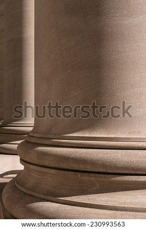 close up of columns in Washington DC - stock photo