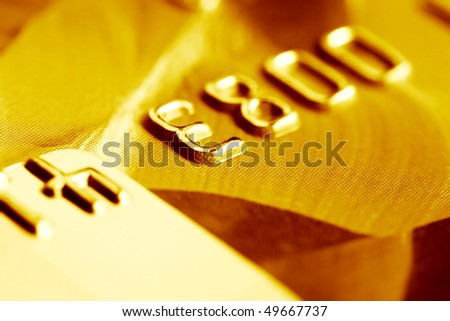Close up of credit card. - stock photo