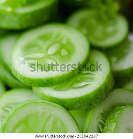 Close-up of cucumber - stock photo