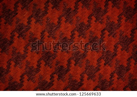 Close up of dark red colored wool textile in Hi-Res - stock photo