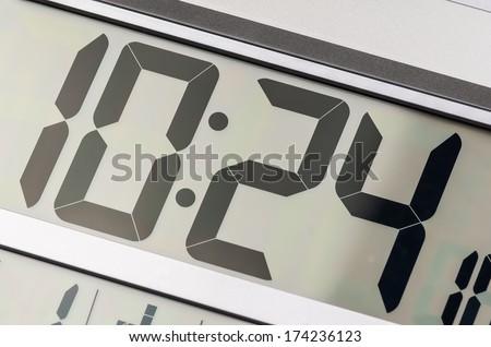 Close up of digital clock - stock photo