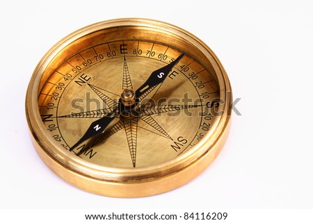 Close up of directional compass - stock photo
