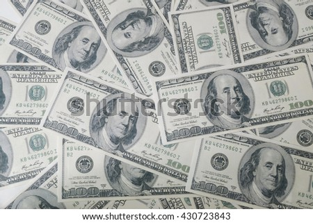 Close up of dollar background. business finance, investment, saving and corruption concept - stock photo