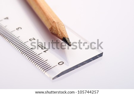 Close-up of drawing equipment - stock photo