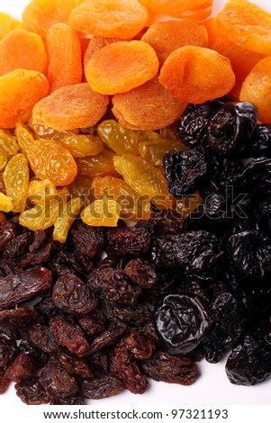 Close up of dried fruits - stock photo