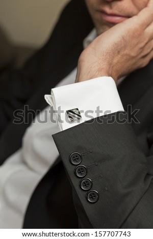 Close-up of elegance man hands  - stock photo