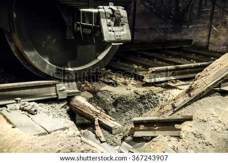 Close up of explosion train wheel - stock photo